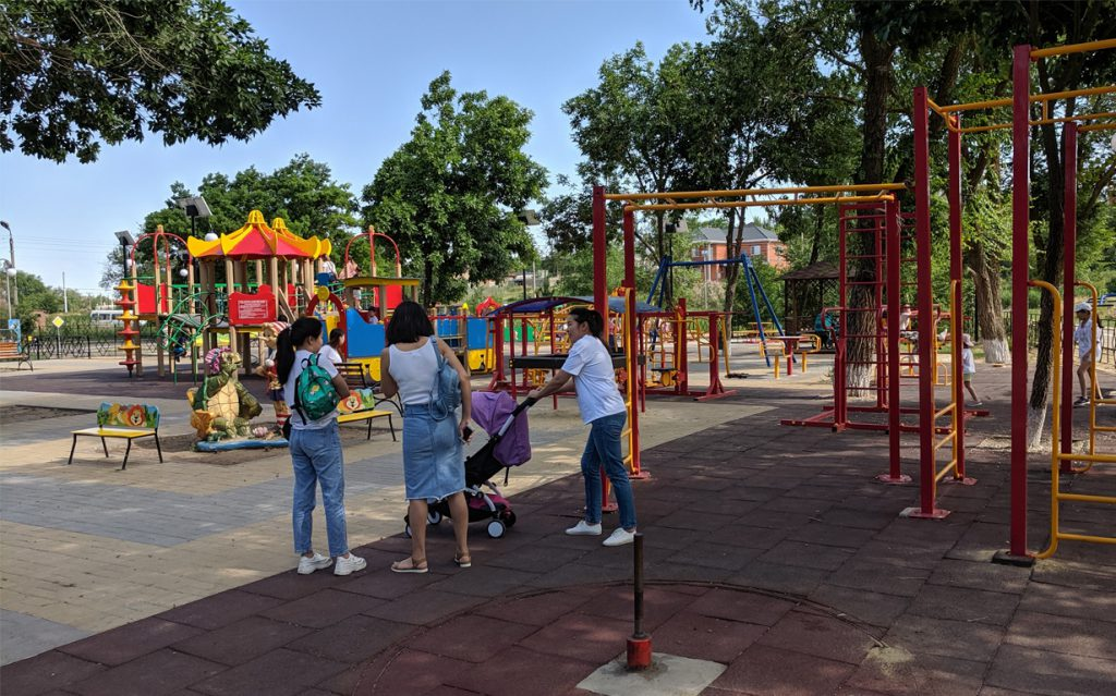 New playground in Elista, Kalmykia