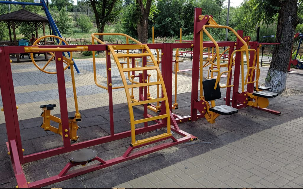 Playground includes rehabilition equipment