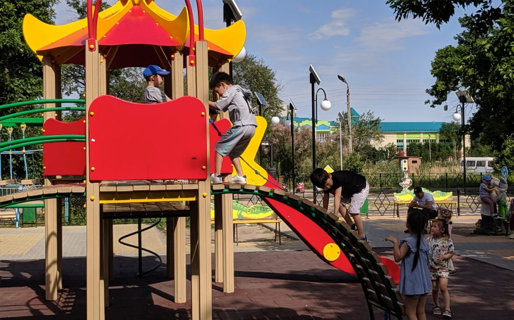 New playground in Elista, Kalmykia