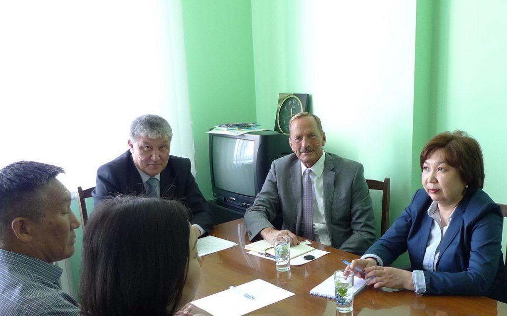 Meeting at TB Clinic in Kalmykia